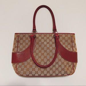 Gucci Maroon & Brown Shoulder Bag